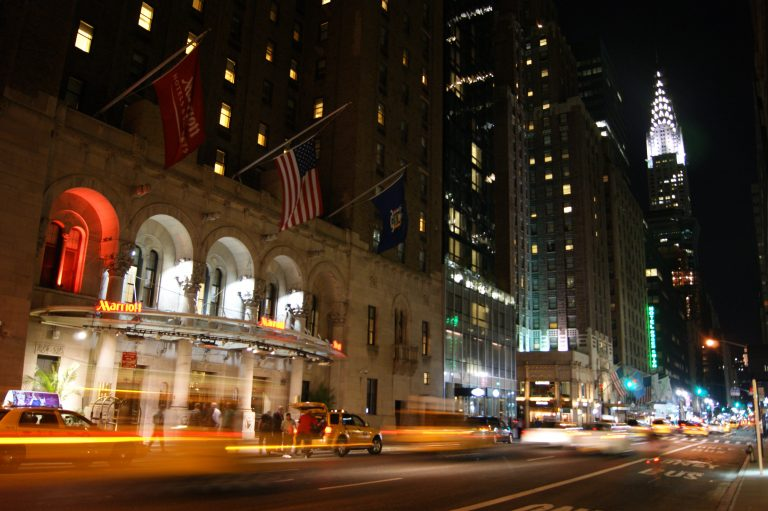 NYC, New York, Street, Photography, photos, night, lights, marriott, hotel